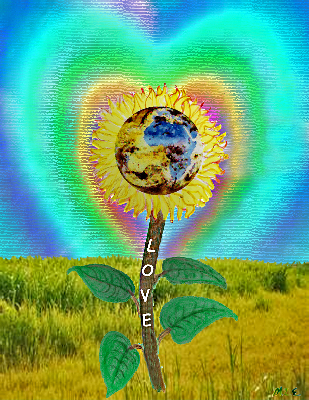 sunflower love with signature