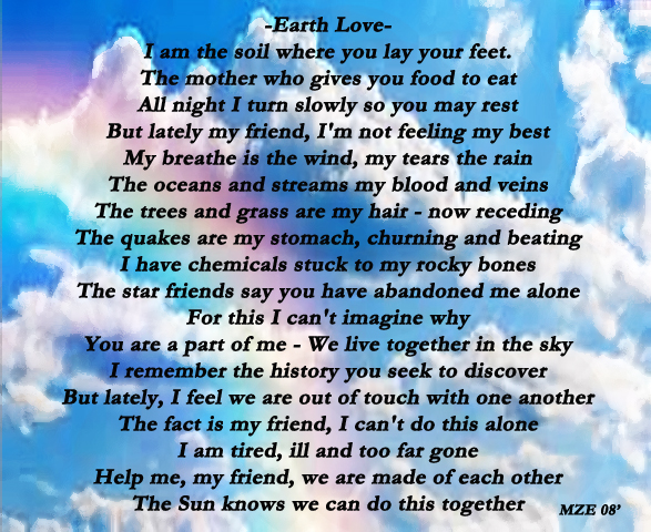 Earth Love Poem on Earth Scene