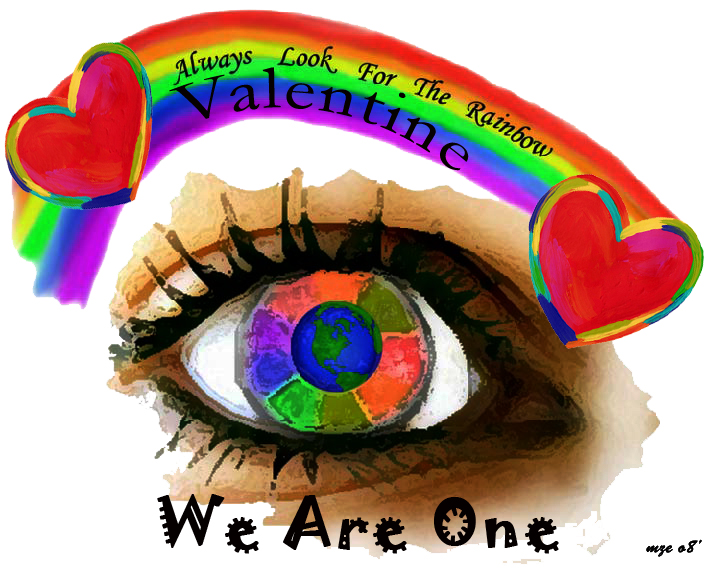 Rainbow eye Valentine